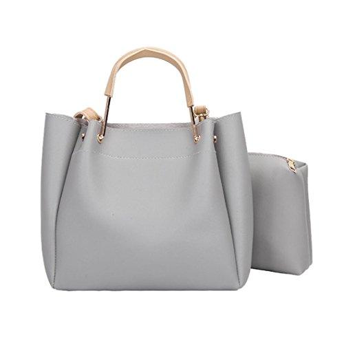 (Two Set Women Handbag Shoulder Bags Two Pieces Tote Bag Crossbody Bag by VESNIBA)