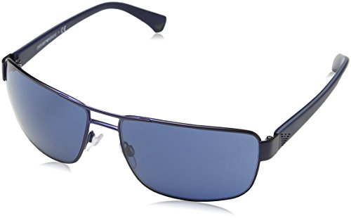 Emporio Armani EA2031 311180 Matte Blue EA2031 Rectangle Sunglasses Lens Catego