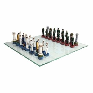 DODOPAY United States Army vs United States Navy Chess Set[NFS] Made of Cold cast Resin ()