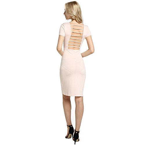 Pink torna Bodycon V amp;S Nightclub Donna MEI rugiada collo Light abito tqvPxXw