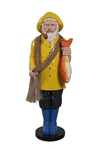 Nautical Tropical Imports Yellow Coat Salty Standing Fisherman ()