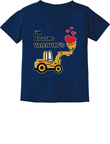 I'm Digging Valentine's Gift for Tractor Loving Boys Toddler/Infant Kids T-Shirt 3T -