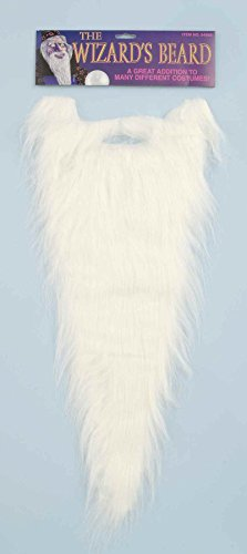 Long White Wizard Beard Costume Accessory Gandalf Waldo Wally Dumbledore -