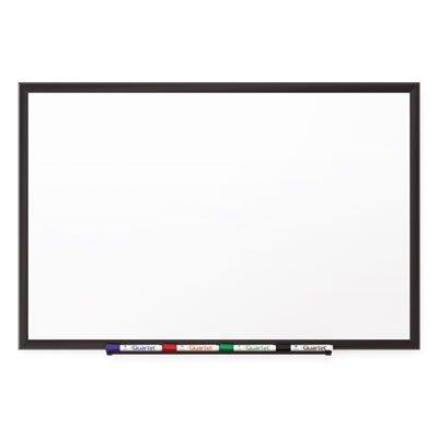 Porcelain Magnetic Whiteboard, 48 x 36, Black Aluminum Frame by Reg