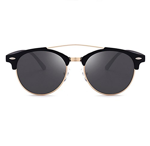 Noir lunettes polarisées conduite classique voyage classique lunettes de par Mat ébZf2DHm5mUGsent demi trame de aviateur Hellomiko la soleil Gris 7a4IOfn