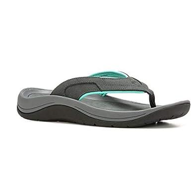 75c33c77c62fe6 Muck Boot Women s Wanderer Grey with Teal Size 6 Flip Flops