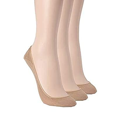 Chatties No Show Slip On Socks (3 Pack) Tan at Women's Clothing store