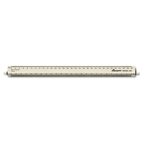 Chartpak® Adjustable Triangular Scale Aluminum Engineers Ruler, 12, Silver by (Chartpak Triangular Scale)