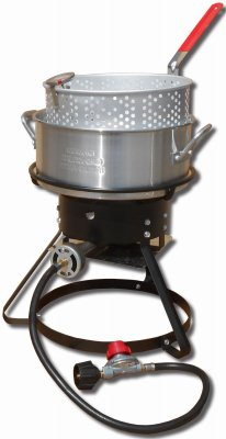 METAL FUSION-IMPORT 1217 Outdoor Fish Fryer, 10-Qt, 12-In.