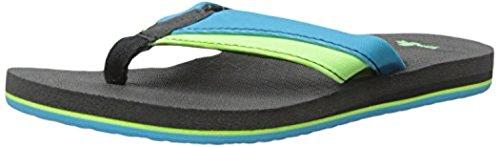 Sanuk Gioventù Rootbeer Accogliente Leggero Sandali Oceano / Lime 2/3 E Scarpa Pulitore Fascio