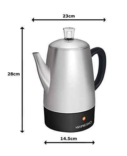 Mixpresso Electric Coffee Percolator | Stainless Steel Coffee Maker | Percolator Electric Pot – 10 cups