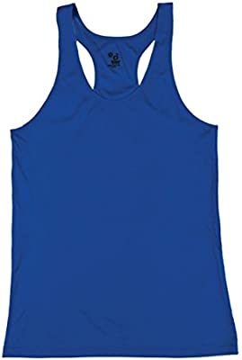 1b4af272aed Amazon.com  Badger Sport Royal Blue Girls XS B-Core Moisture Wicking  Racerback Tank Sports Top  Sports   Outdoors