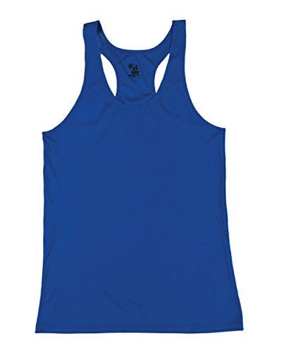 Royal Blue Girls Large B-Core Moisture Wicking Racerback Tank Sports Top by Badger Sport