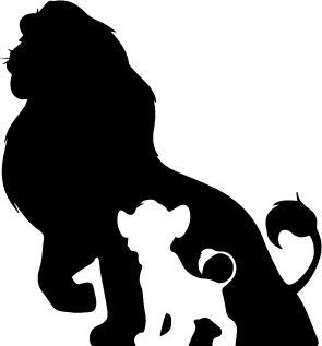 The Lion King Fathers Shawdow Decal Vinyl Sticker|Cars Trucks Vans Walls Laptop|BLACK |5.5 (Simba Costume Broadway)
