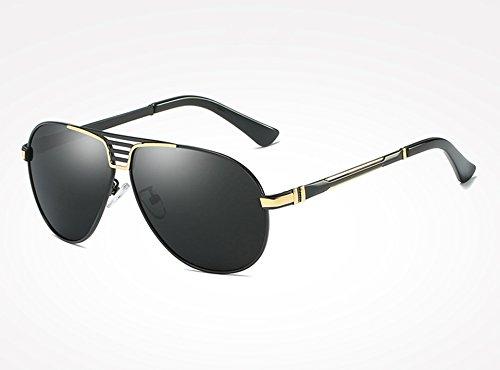 Gafas Negro Macho Sunglasses Hombres Guía los Gris gold gray Hombres Plata Gafas de Libre para al black Sol de TL Gafas de Gafas Deportes Aire U5dqHUw