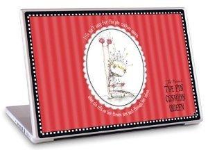 GelaSkins Tim Burton Pin Cushion Queen For 13.3 Mac & 13.3/14.1 PC Laptop