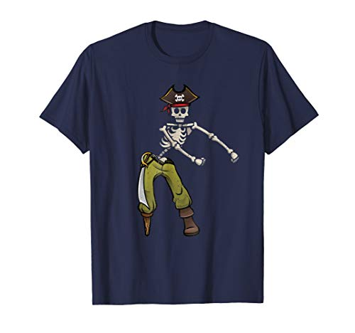 Flossing Skeleton Pirate Shirt Halloween Kids Boys Men Gift
