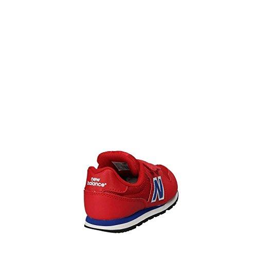 New Balance Sneakers Bambino, KV500YEY/RED/BLUE, Colore Rosso Blu, Chiusura strappo, Nuova Collezione Primavera Estate 2018