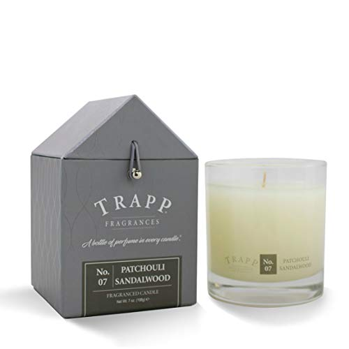 Trapp Signature Home Collection No. 7 Patchouli/Sandalwood Poured Scented Candle, 7-Ounce - Fan Scented Sandalwood