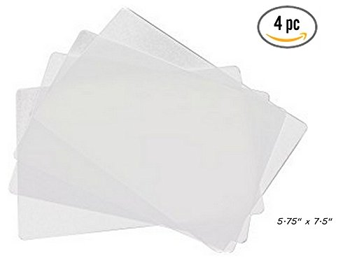 4 ALAZCO Clear Flexible Cutting Board 5.75 x 7.5 Small For Bar Counter-Top Chopping Mats For Fruits & Vegetables Appetizer Garnish Prep - CLEAR