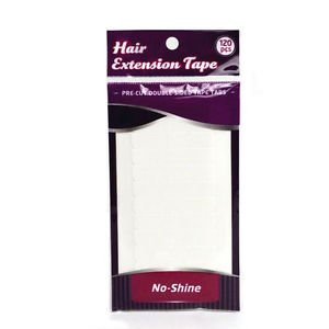 No Shine Hair Extension Tape Tabs. 120 tabs per pack by No Shine Extension - Walker Extension