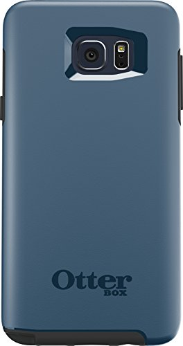 OtterBox SYMMETRY SERIES Case for Samsung Galaxy Note5 - Retail Packaging - City Blue (Dark Deep Water Blue/Slate Grey) (Lg G3 Black Otterbox Phone Cases)
