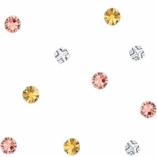 (53103 Swarovski Rose Montees Silver SS30 | Light Silk | SS30 (6.4mm) - Pack of 720 (Wholesale) | Small & Wholesale Packs)