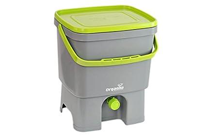 Cuisine-C - Papelera orgánica ecológica Bokashi con de plástico, en Color Gris,