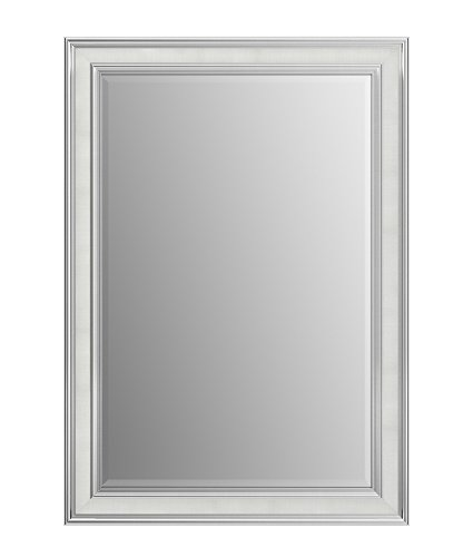 Chrome Classic Wall Mount - Delta Wall Mount 29 in. x 41 in. Medium (M3) Rectangular Framed Flush Mounting Bathroom Mirror in Classic Chrome with TRUClarity Deluxe Glass