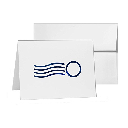 Postmark Canceled Postage Mail Postal, Blank Card Invitation Pack, 15 cards at 4x6, Blank with White Envelopes Style 16692
