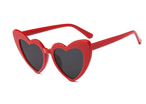 JUSLINK Heart Shaped Sunglasses for Women, Cat Eye Mod Style Retro Kurt Cobain ()