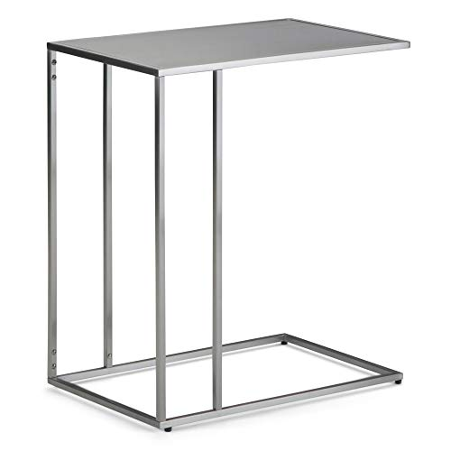 - Simpli Home AXCSLO-02-SS Sloan 20 inch Wide Modern Contemporary C Side Table in Stainless Steel