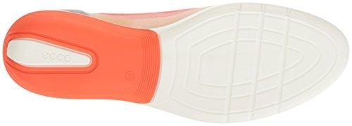 Ecco Womens Light Light Ballerina Flat Fashion Sneaker Rose Dust / Coral B-silver M / Wild Dove