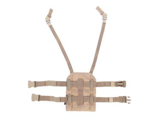 BE-X Beinplatte für modulare Taschen mit Schnelltrennsystem - BW tropentarn