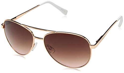 Steve Madden Women's Sm482166 Aviator Sunglasses, Rose Gold, 62 ()