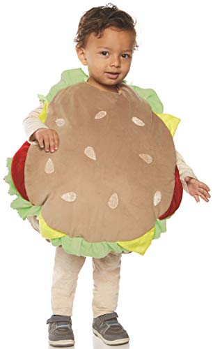 Underwraps Kid's Toddler's Plush Hamburger Belly Babies Costume Childrens Costume, Multi, Medium ()