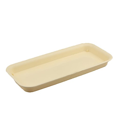 - rescozy 16 inch Plastic Rectangular Planter Tray Flower Pot Saucer, Beige