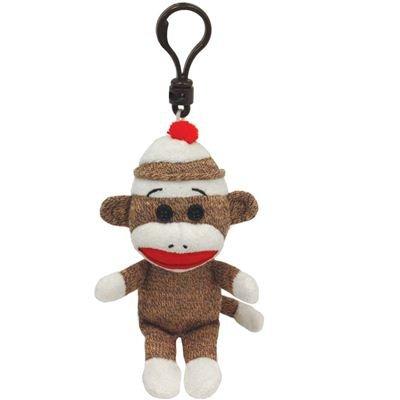 Ty Beanie Baby - Sock Monkey Brown
