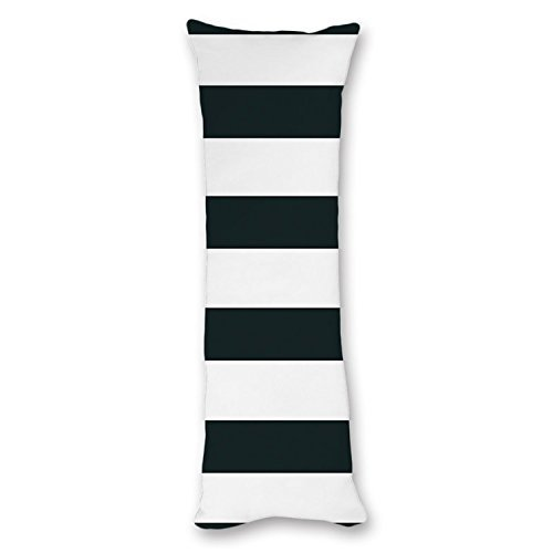 UTF4C Modern Design Black and White Striped Pattern Body Pillow Cover Pillow Case 20''x54'',Pillow Cases with Zipper for Pregnant Women