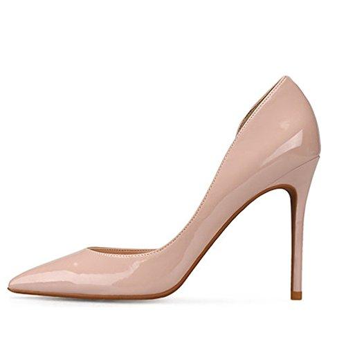 Nude Femme Hauts 5 38 5 Travail EU 6cm Talons Noir UK Mode Cour Chaussures Mariage De Sexy qAqUBaF