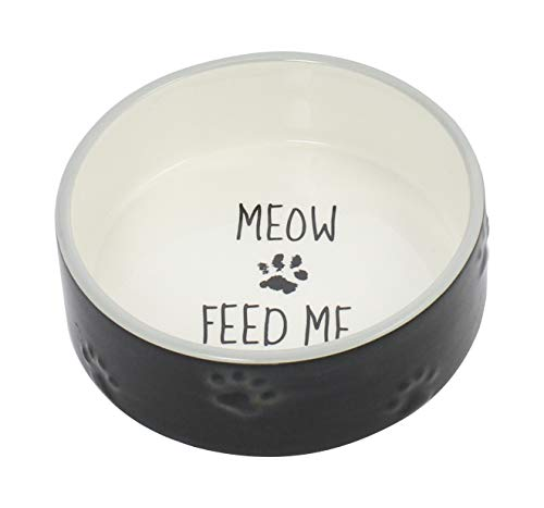 Cheap Winifred & Lily Ceramic Pet Bowl for Food & Water, with Non-Skid Rubber Bottom for Small, Large Dogs and Cats with Printed You are My Sunshine (CAT)