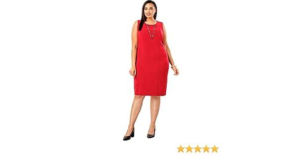 a60de8f0875 Jessica London Women s Plus Size Tummy Control Bi-Stretch Sheath Dress at Amazon  Women s Clothing store