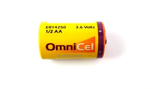 - Omnicel ER14250 (LS14250) 1/2 AA 3.6 Volt Primary Lithium Battery (1200 mAh)