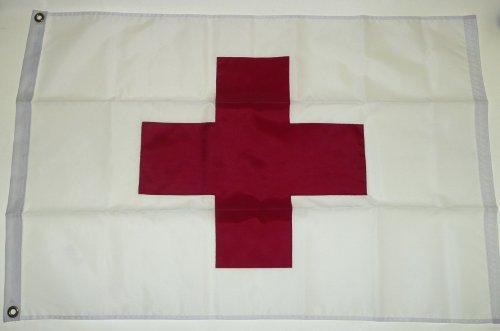 (SolarMax Nylon 5x8 5 x 8 FT Sewn Red Cross Medical Ambulance Flag US MADE)