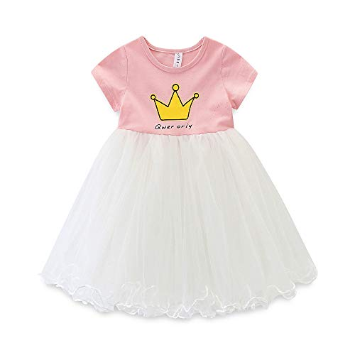 Cute Toddler Girls Birthday Party Dress Princess Crown Tulle Skirt Tutu Dress - Tutu Spring