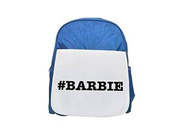Apodos de Barbie apodo Hashtag impreso Kid s azul mochila, para mochilas, cute