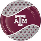 Pack of 96 NCAA Texas A&M Aggies Round Tailgate Party Paper Dinner Plates 8.75