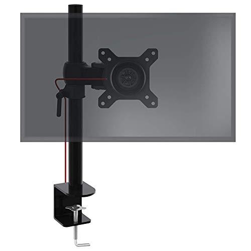 Duronic DM351X1 Single LCD LED Desk Mount ((Die-Cast Aluminium)) Monitor Stand Bracket with Tilt and Swivel (Tilt ±15° Swivel 180° Rotate 360°)