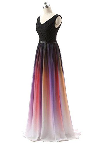 Chiffon BessWedding Party BW048 Csuneta Long Dress Pageant Ombre 2019 Gown Women's Prom BBf7E