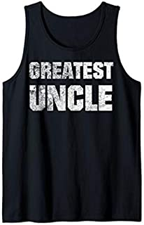 Mens Retro Vintage Men Greatest Uncle Gifts And Uncle s Tank Top T-shirt | Size S - 5XL